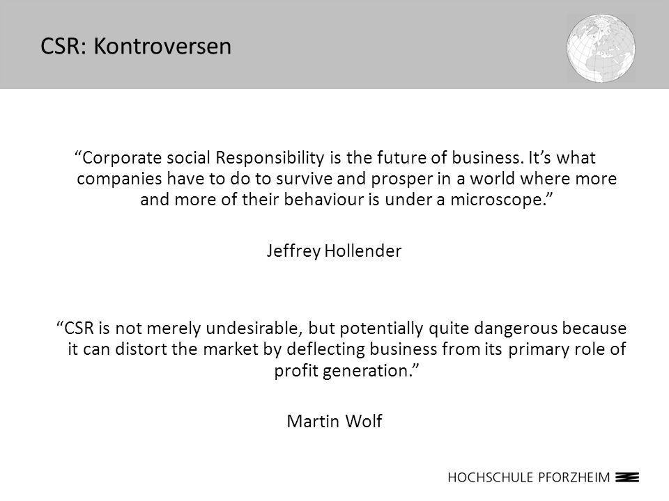 CSR: Kontroversen
