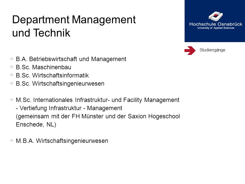 Department Management und Technik