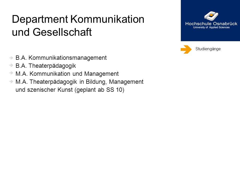 Department Kommunikation und Gesellschaft