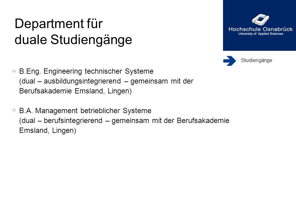 Department für duale Studiengänge