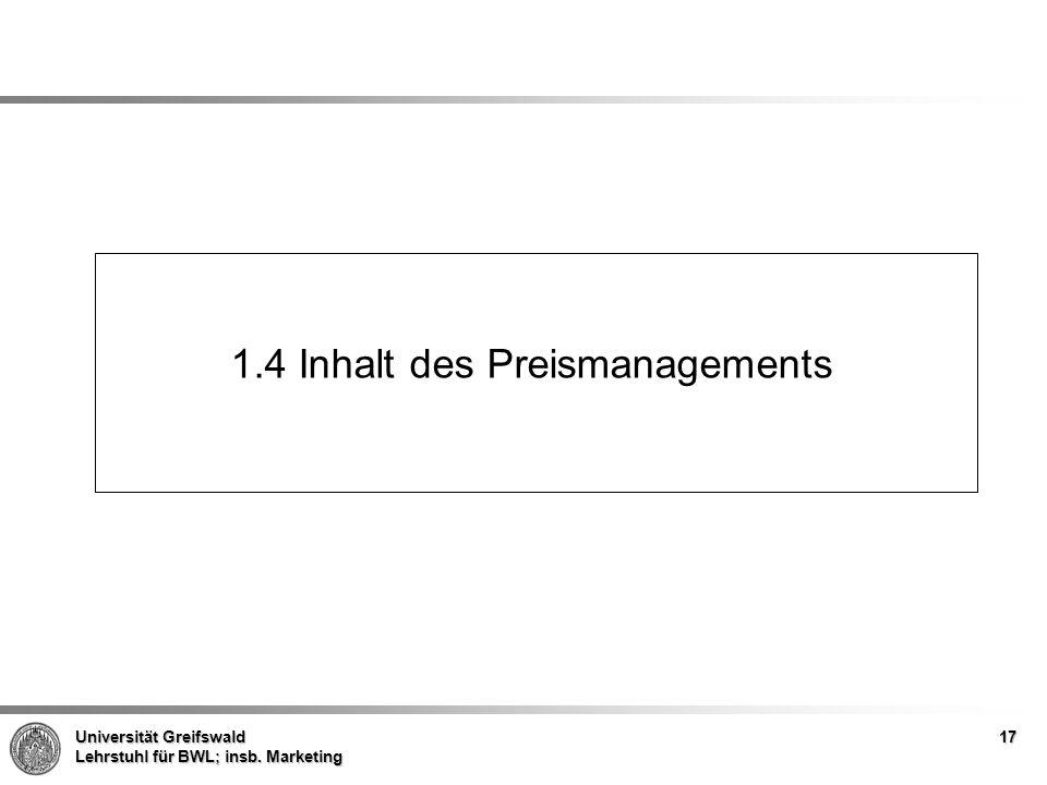 1.4 Inhalt des Preismanagements
