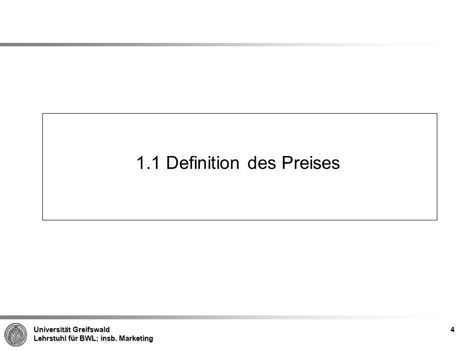 1.1 Definition des Preises
