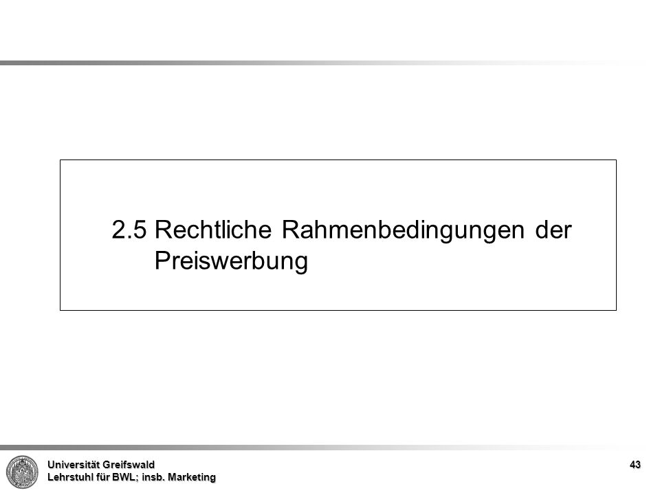 2.5 Rechtliche Rahmenbedingungen der