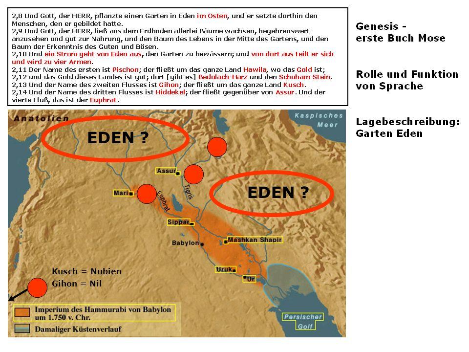 EDEN EDEN Kusch = Nubien Gihon = Nil