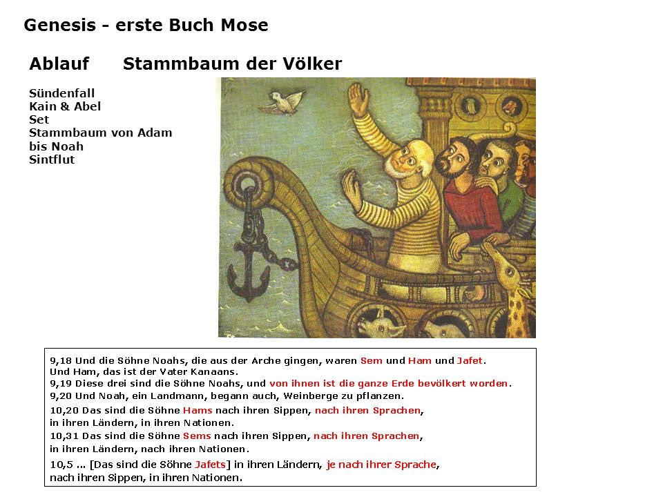 Genesis - erste Buch Mose