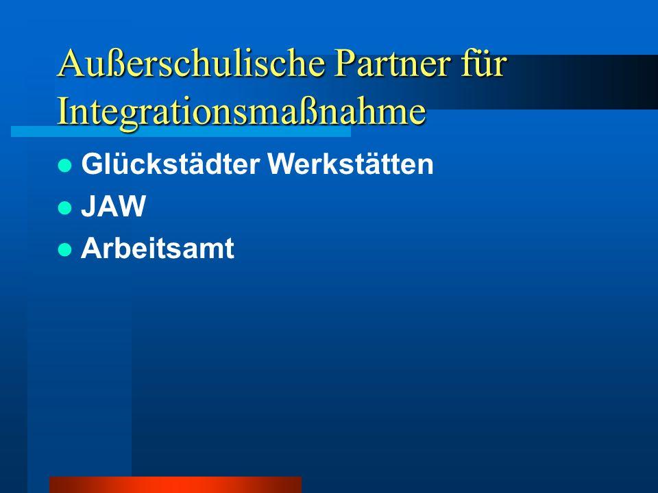 Außerschulische Partner für Integrationsmaßnahme
