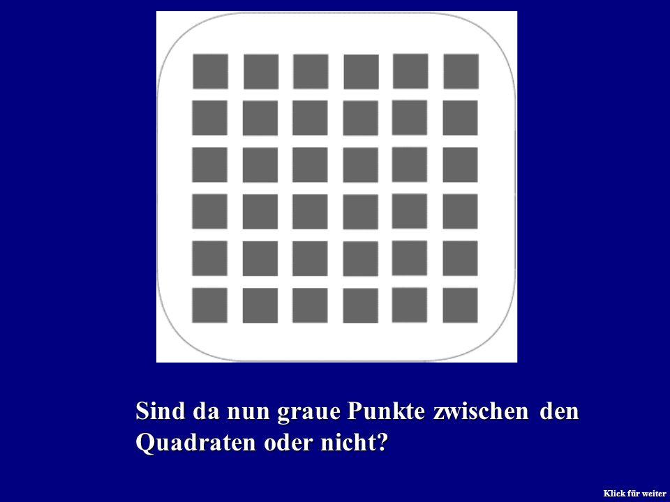 Sind da nun graue Punkte zwischen den Quadraten oder nicht