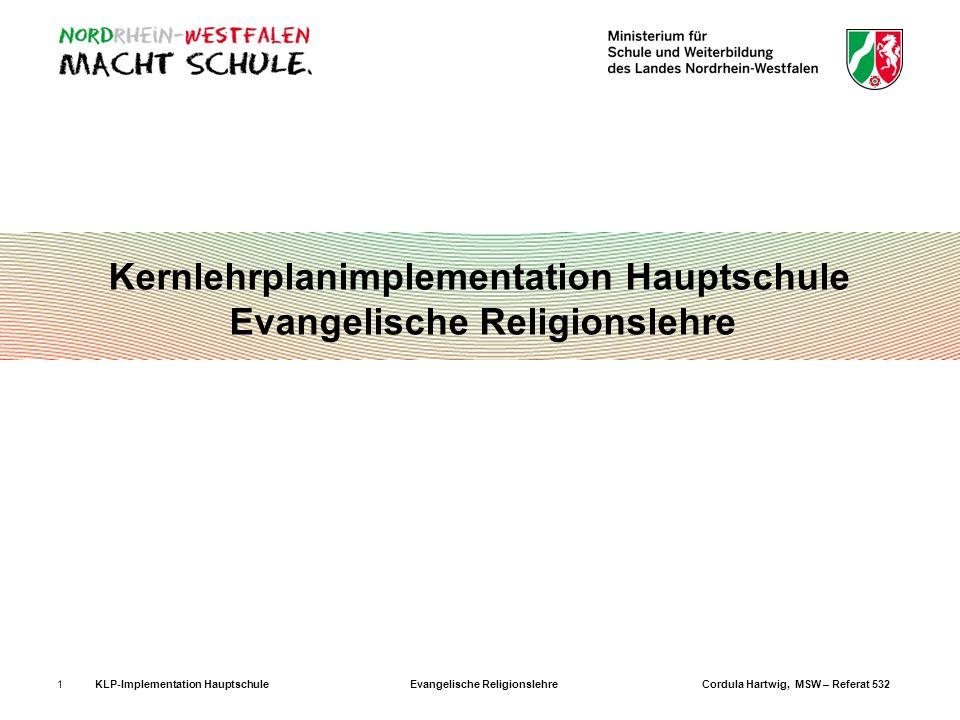 Kernlehrplanimplementation Hauptschule Evangelische Religionslehre