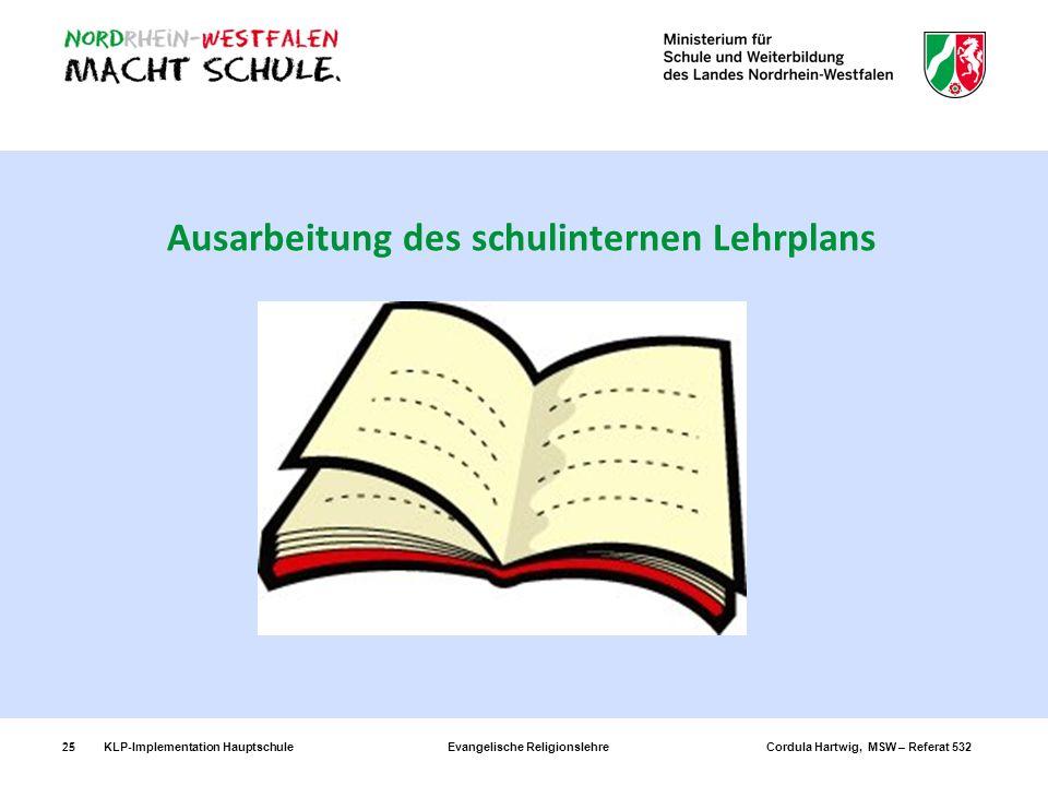 Ausarbeitung des schulinternen Lehrplans