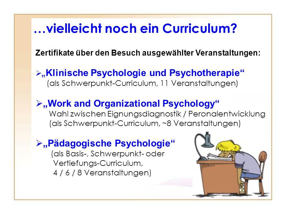 …vielleicht noch ein Curriculum