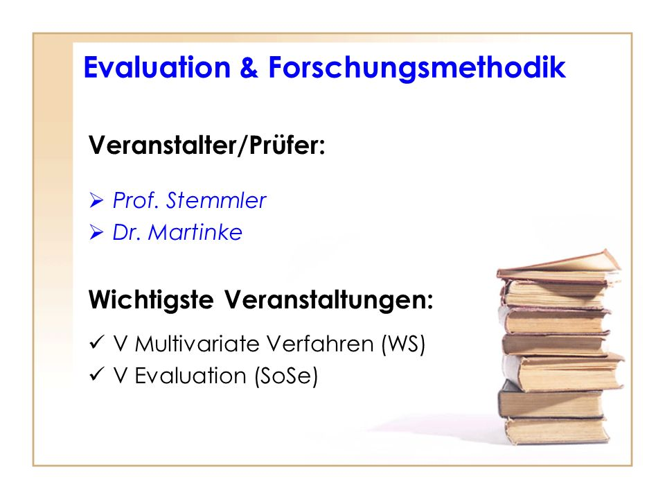 Evaluation & Forschungsmethodik
