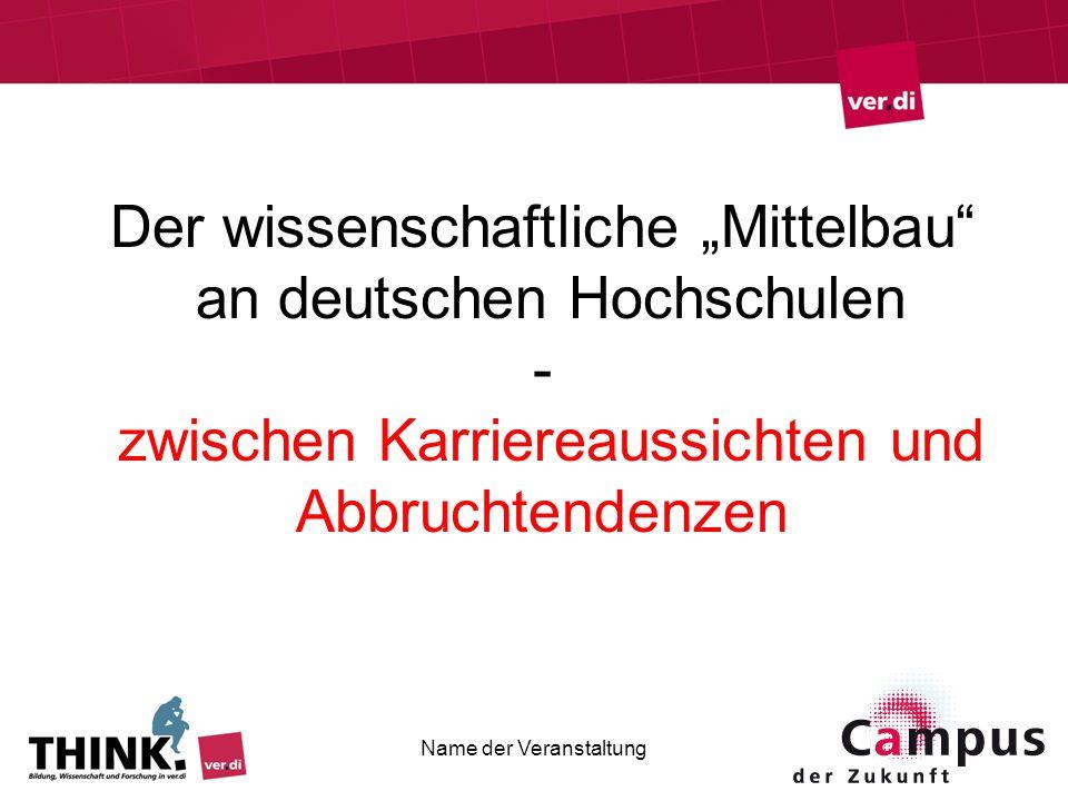 """Der wissenschaftliche """"Mittelbau an deutschen Hochschulen -"""