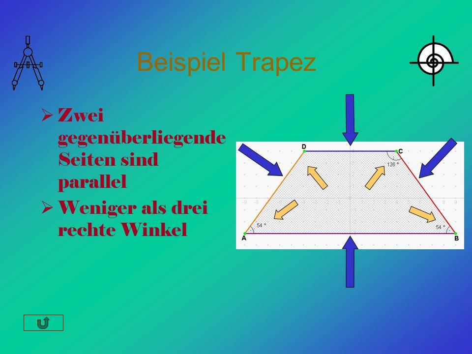 Beispiel Trapez Zwei gegenüberliegende Seiten sind parallel