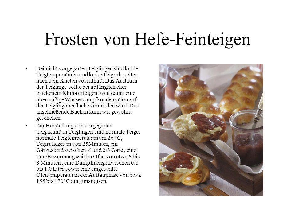 Frosten von Hefe-Feinteigen