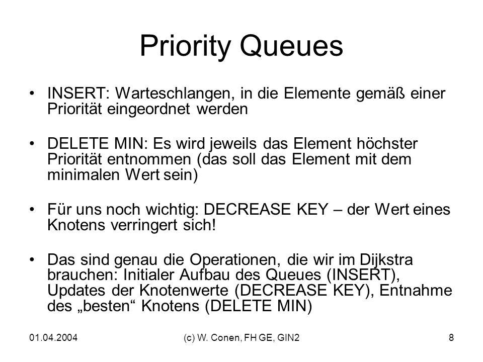 Priority Queues INSERT: Warteschlangen, in die Elemente gemäß einer Priorität eingeordnet werden.