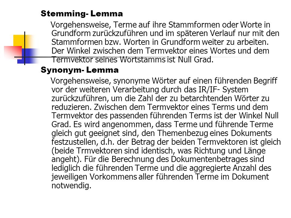 Stemming- Lemma