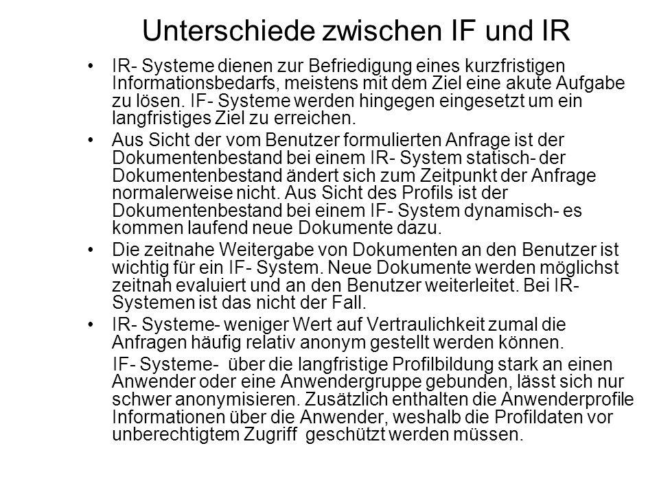 Unterschiede zwischen IF und IR