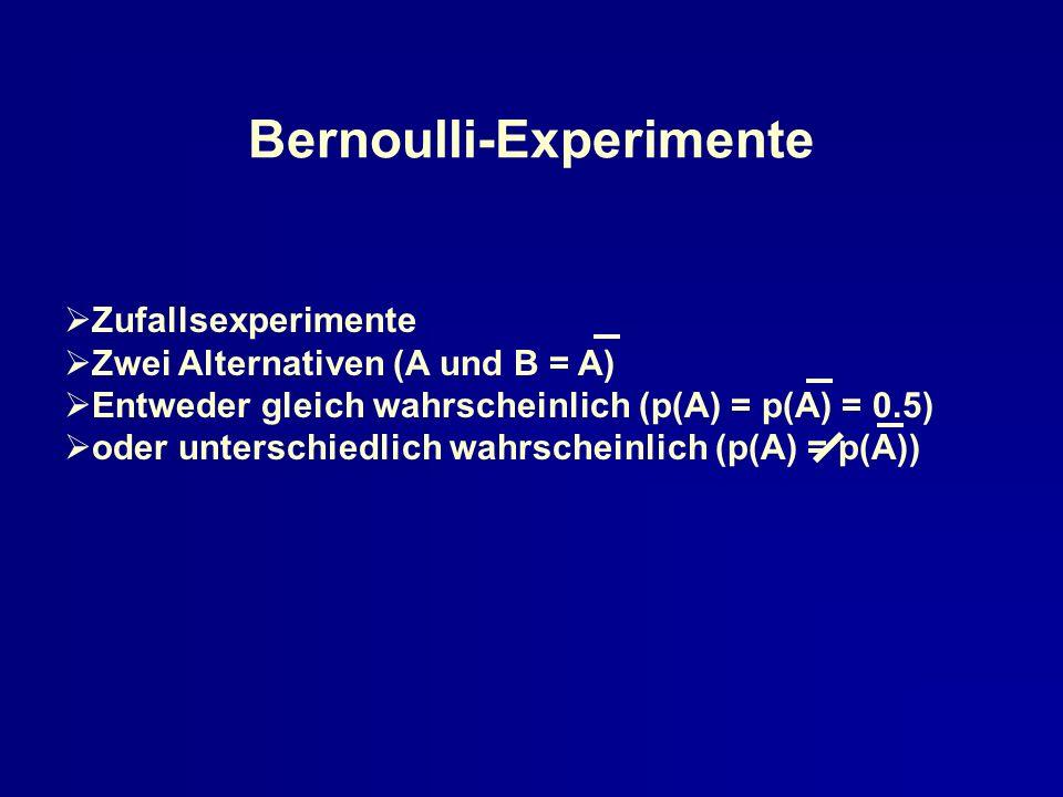Bernoulli-Experimente