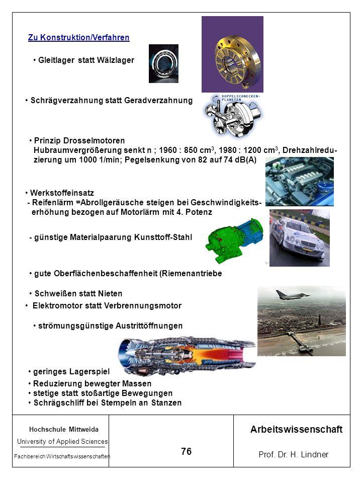 Arbeitswissenschaft 76 Zu Konstruktion/Verfahren