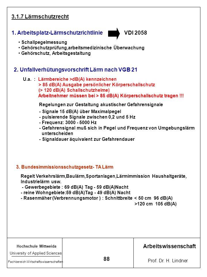1. Arbeitsplatz-Lärmschutzrichtlinie VDI 2058