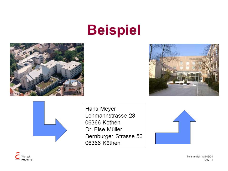 Beispiel Hans Meyer Lohmannstrasse 23 06366 Köthen Dr. Else Müller