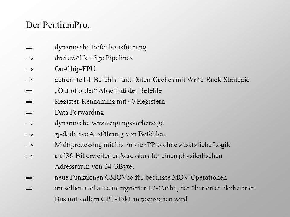 Der PentiumPro:  dynamische Befehlsausführung
