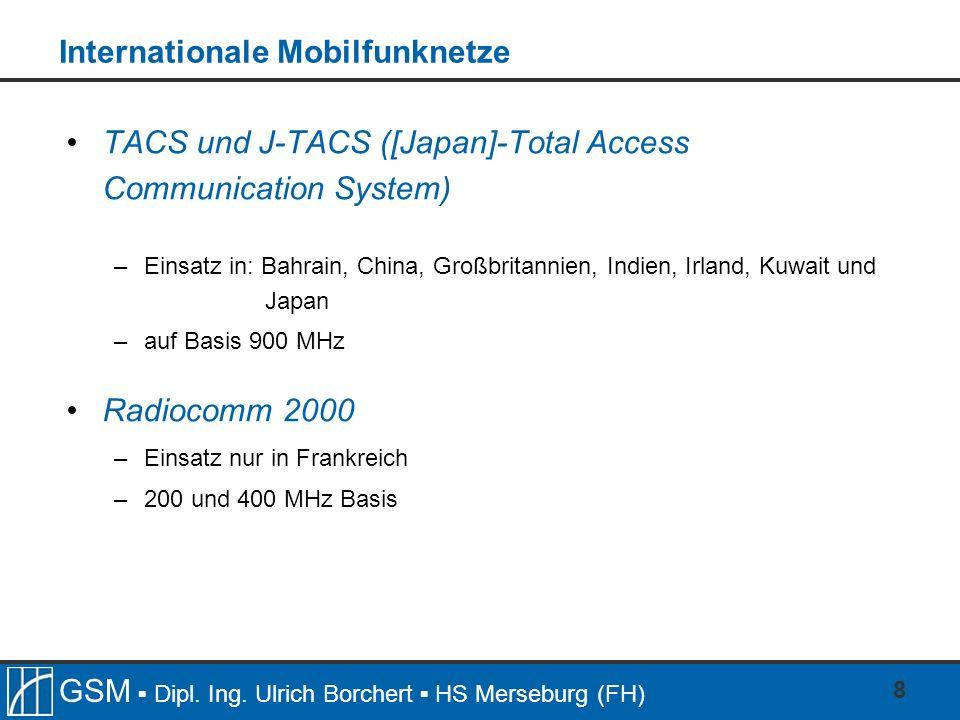 Internationale Mobilfunknetze