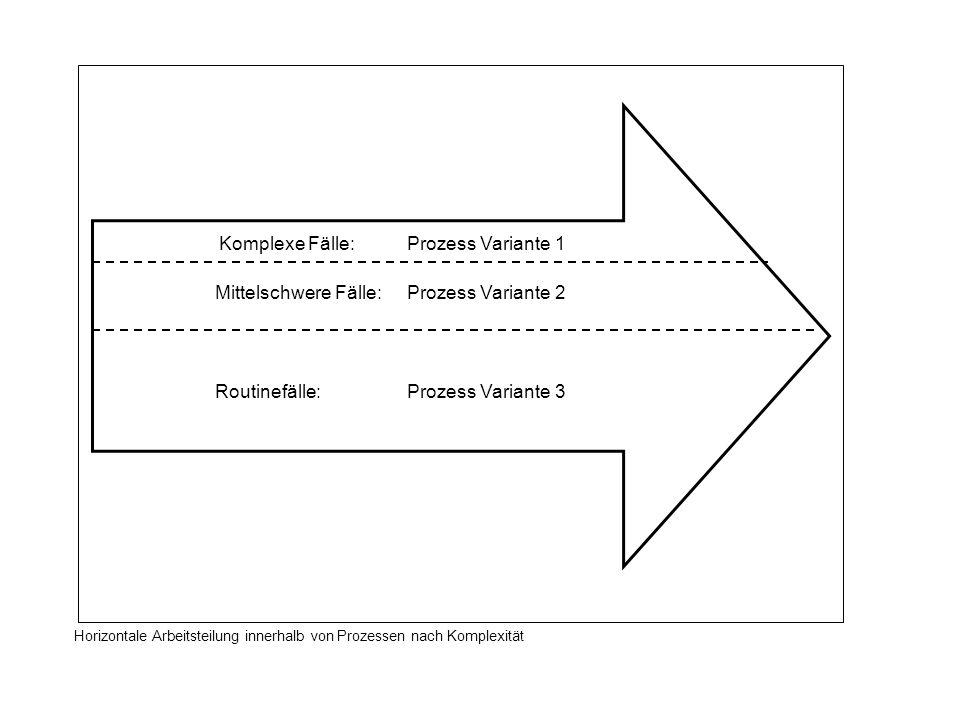 Mittelschwere Fälle: Prozess Variante 2