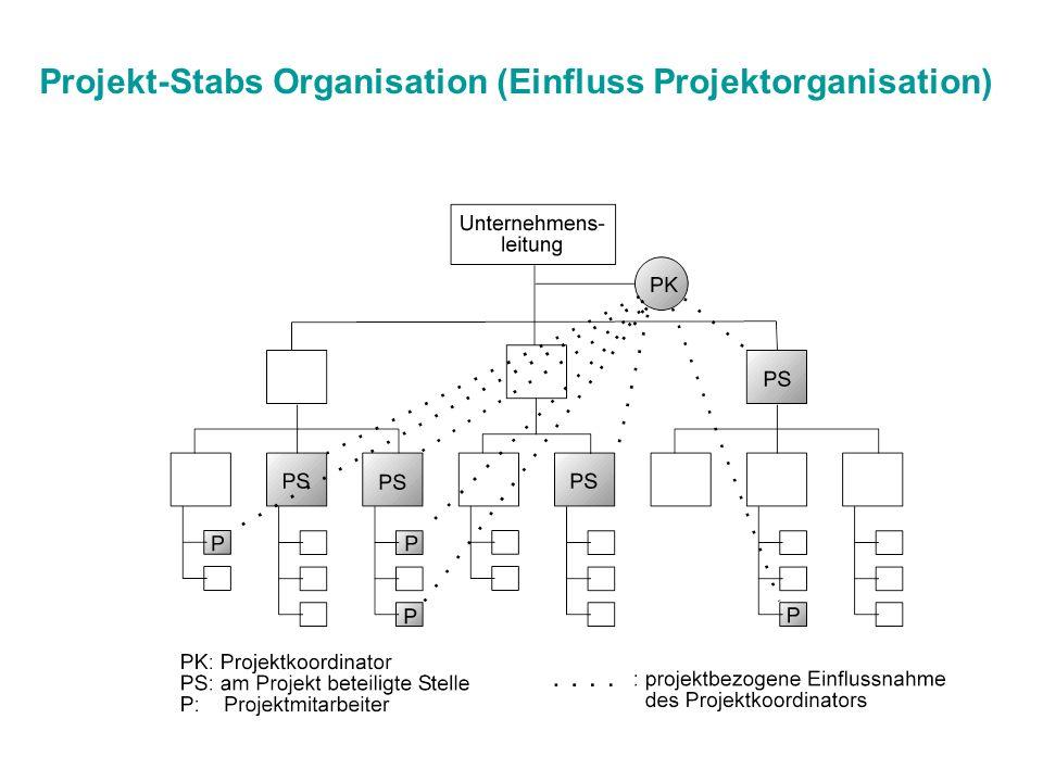 Projekt-Stabs Organisation (Einfluss Projektorganisation)
