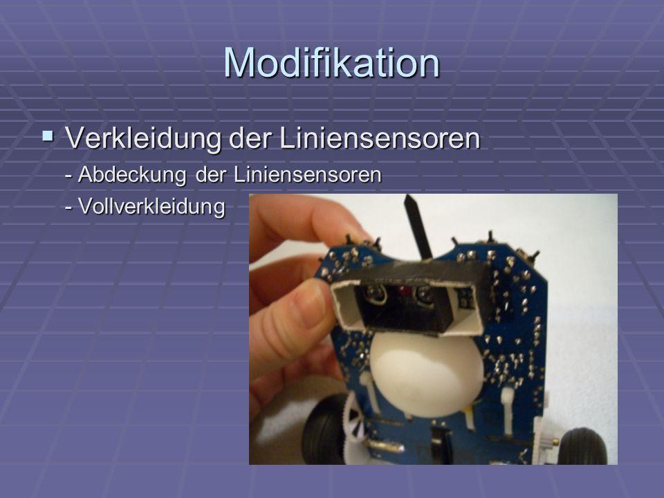 Modifikation Verkleidung der Liniensensoren