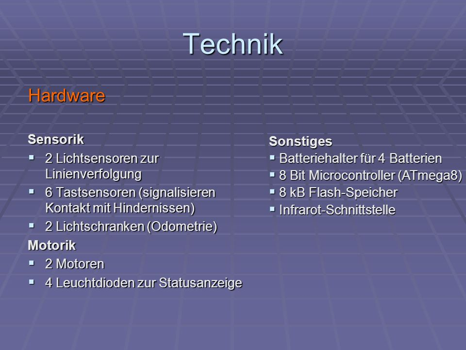 Technik Hardware Sensorik 2 Lichtsensoren zur Linienverfolgung