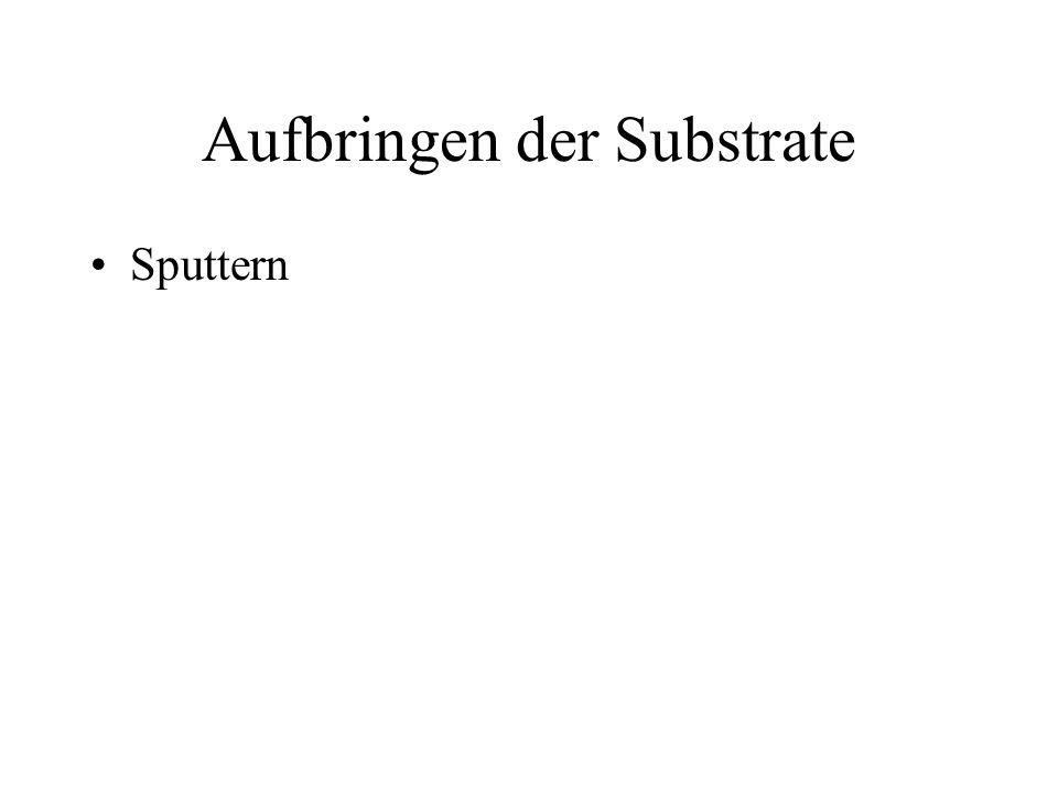 Aufbringen der Substrate