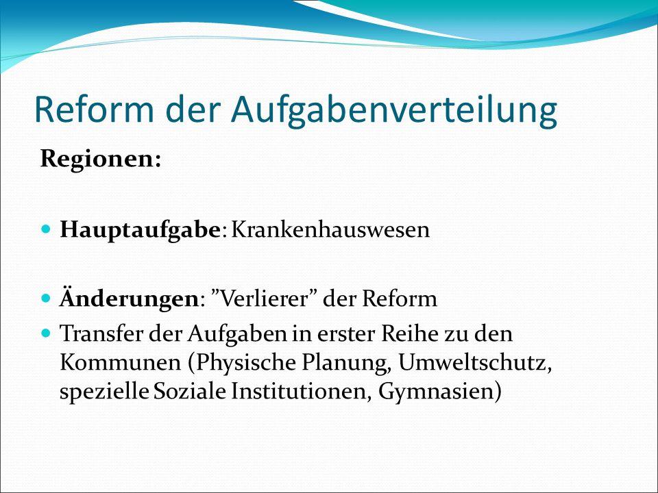 Reform der Aufgabenverteilung