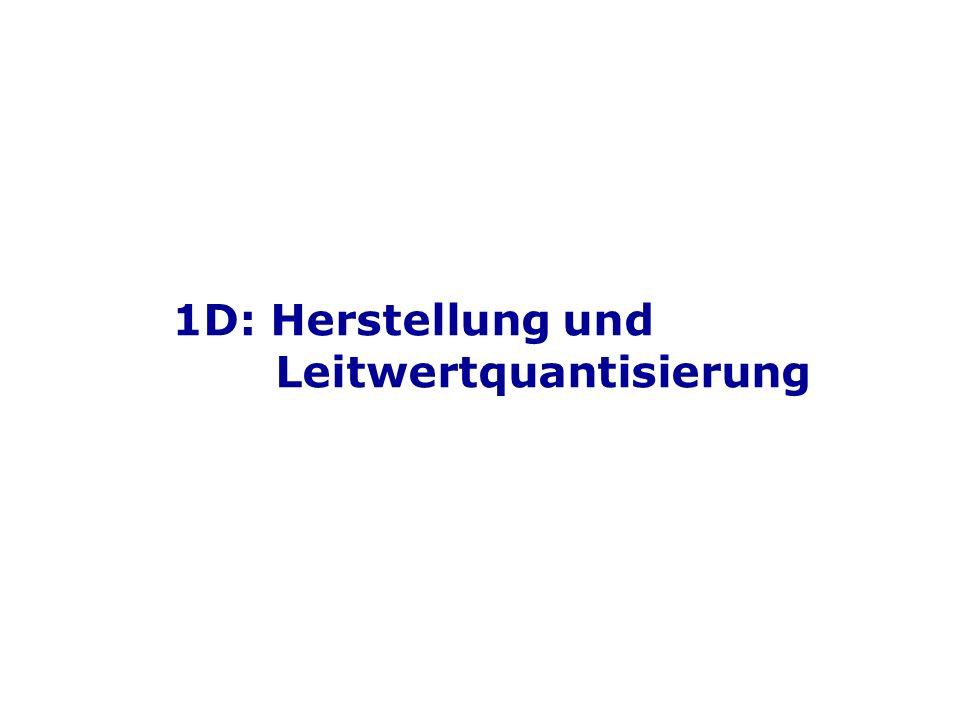 1D: Herstellung und Leitwertquantisierung