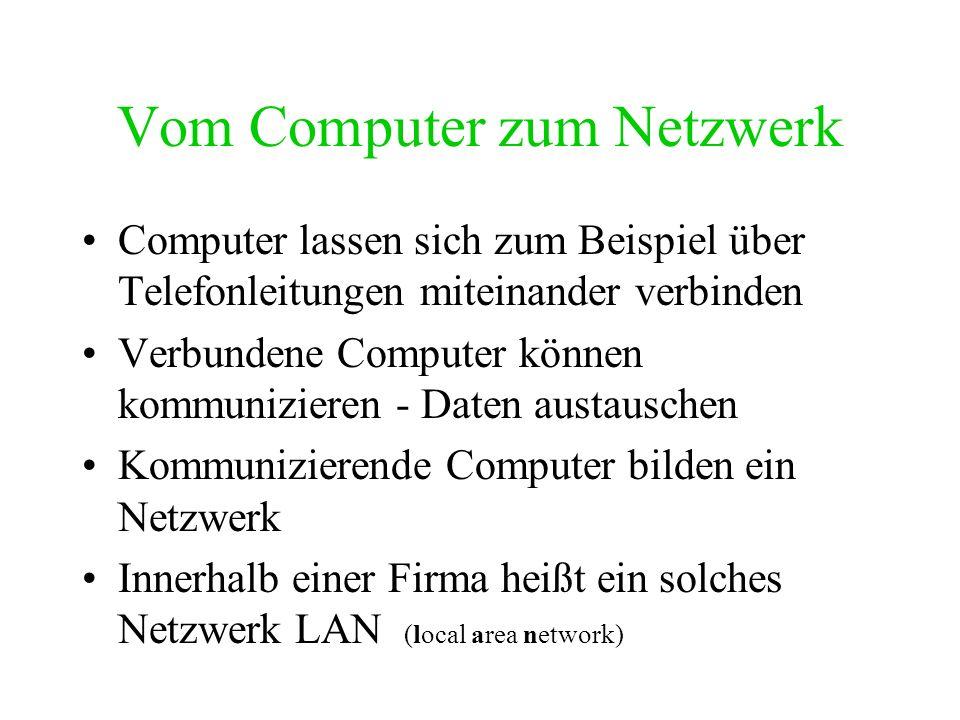 Vom Computer zum Netzwerk