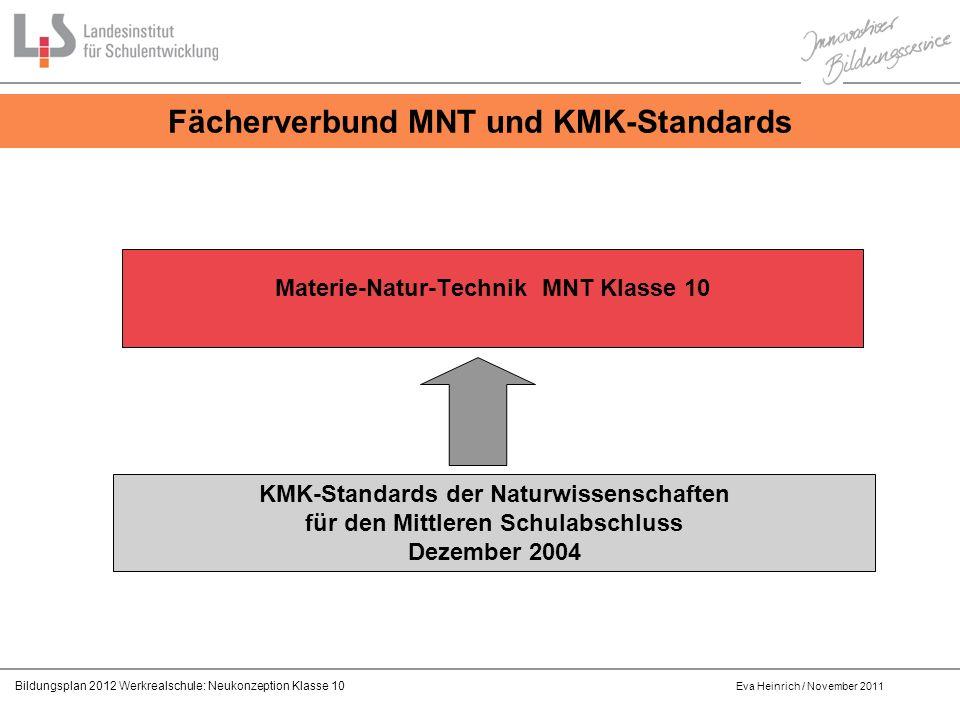 Fächerverbund MNT und KMK-Standards