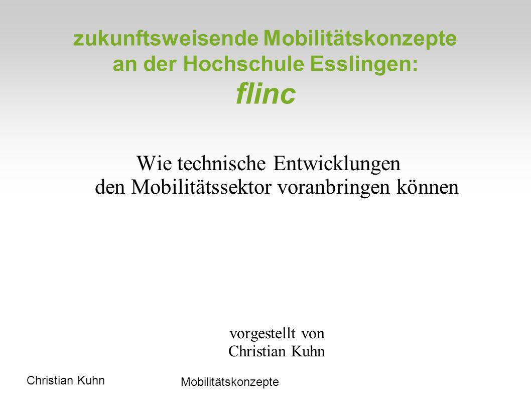 zukunftsweisende Mobilitätskonzepte an der Hochschule Esslingen: flinc