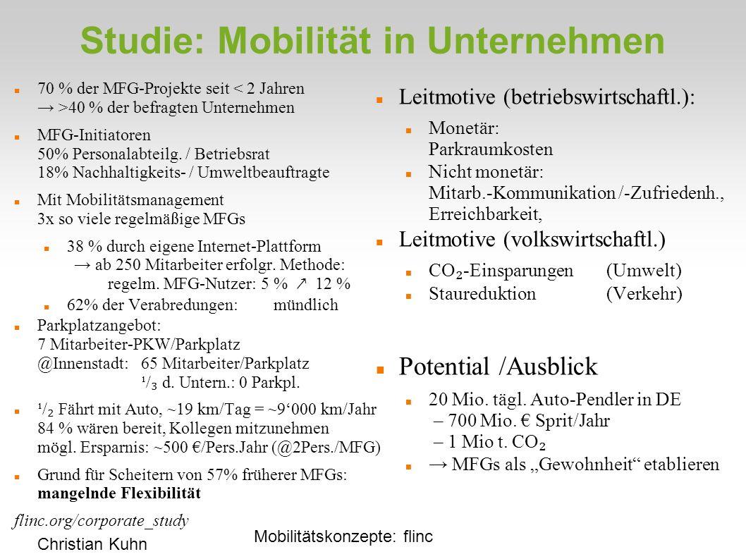 Studie: Mobilität in Unternehmen