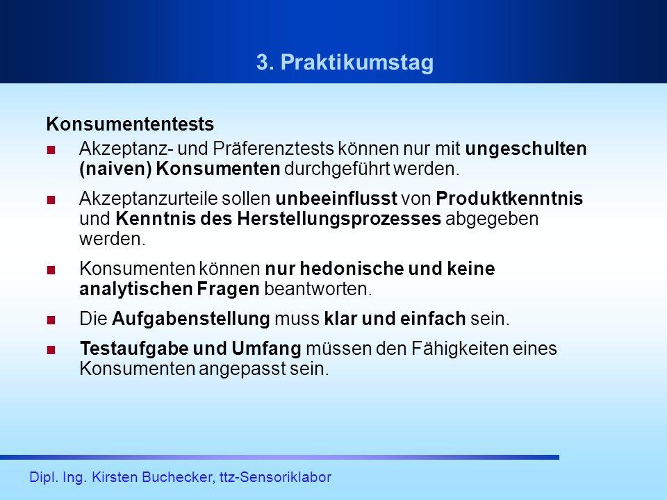 3. Praktikumstag Konsumententests