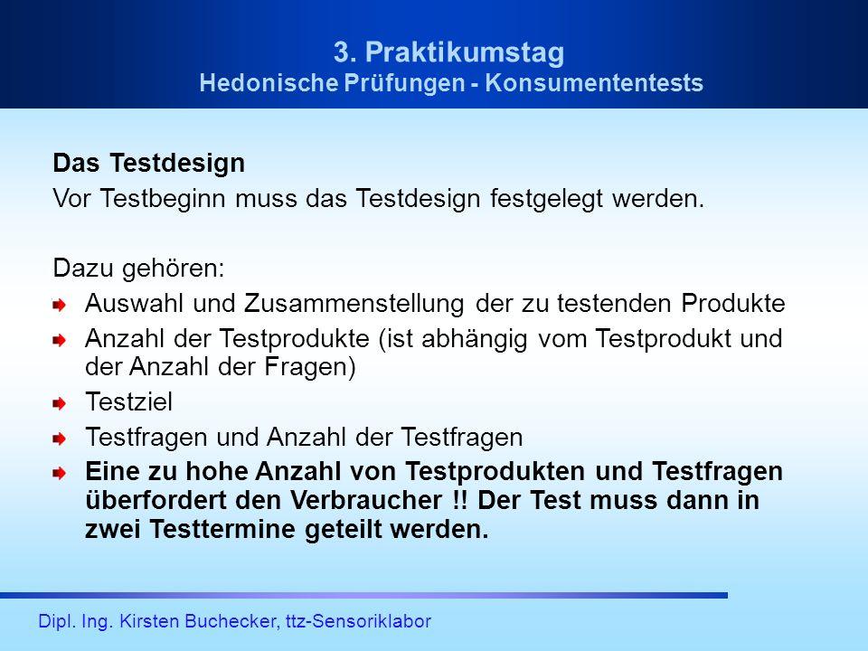 Hedonische Prüfungen - Konsumententests