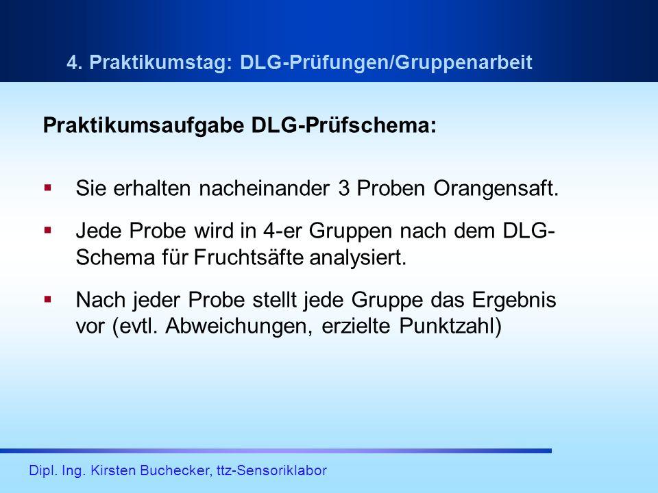 Praktikumsaufgabe DLG-Prüfschema: