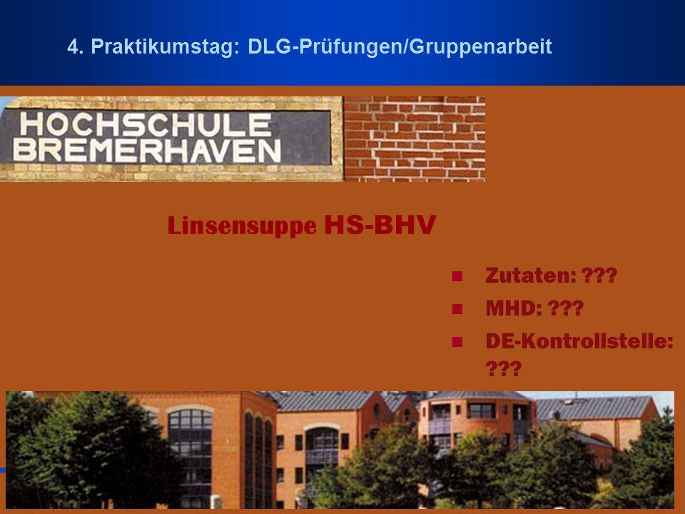 Linsensuppe HS-BHV Zutaten: MHD: DE-Kontrollstelle: