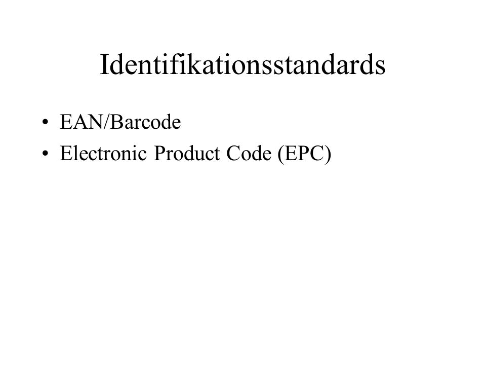 Identifikationsstandards