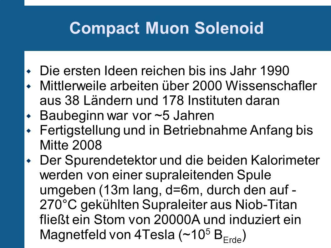 Compact Muon Solenoid Die ersten Ideen reichen bis ins Jahr 1990