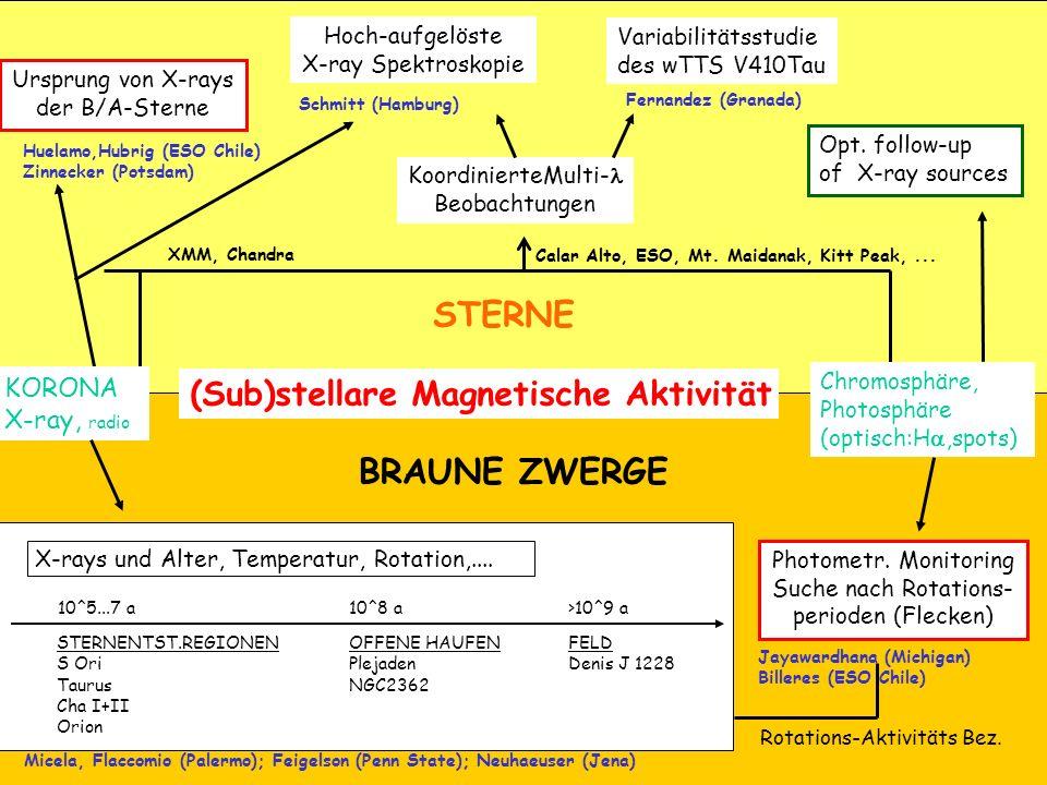 STERNE BRAUNE ZWERGE (Sub)stellare Magnetische Aktivität KORONA