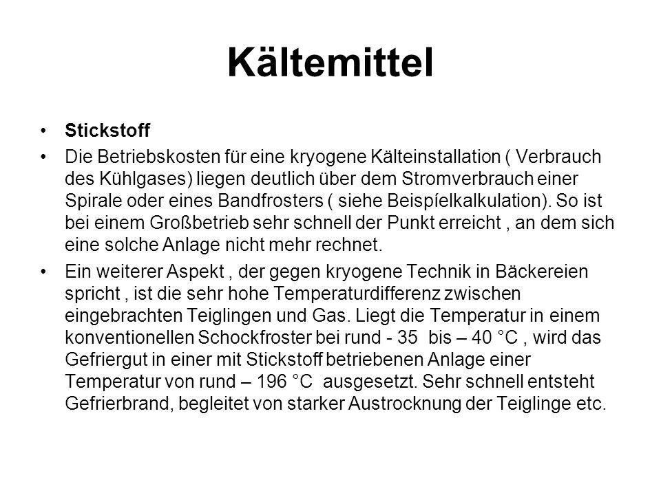Kältemittel Stickstoff