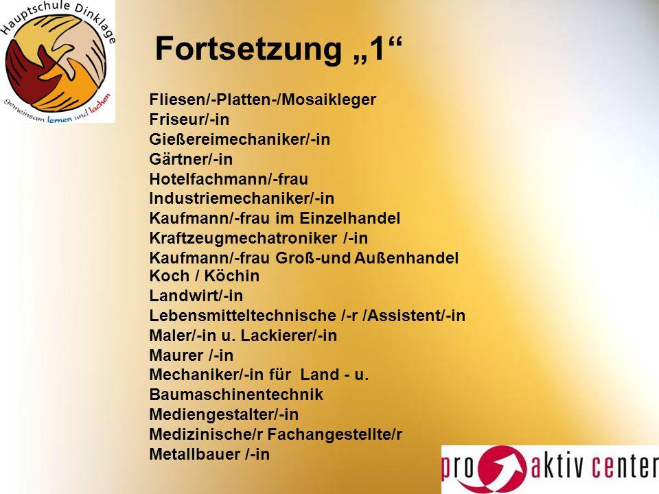 "Fortsetzung ""1 Fliesen/-Platten-/Mosaikleger Friseur/-in"