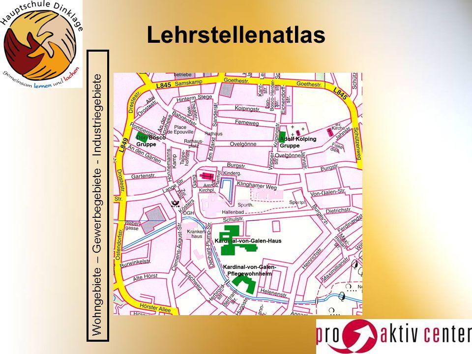 Lehrstellenatlas Wohngebiete – Gewerbegebiete - Industriegebiete