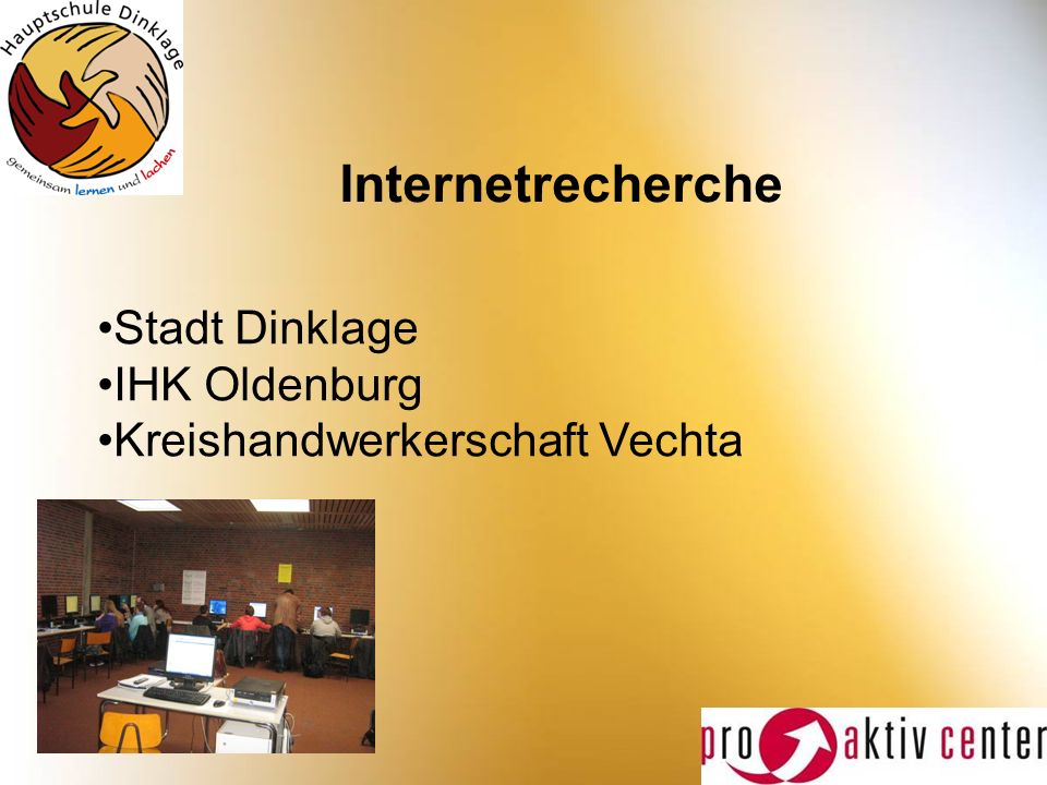 Internetrecherche Stadt Dinklage IHK Oldenburg