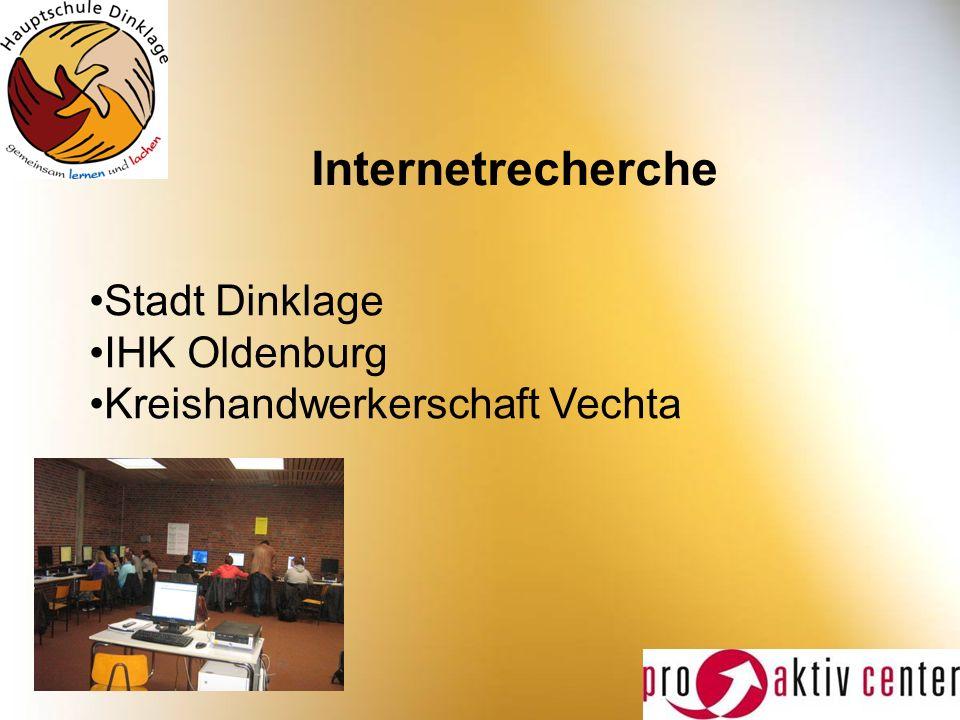 Internetrecherche Stadt Dinklage IHK Oldenburg